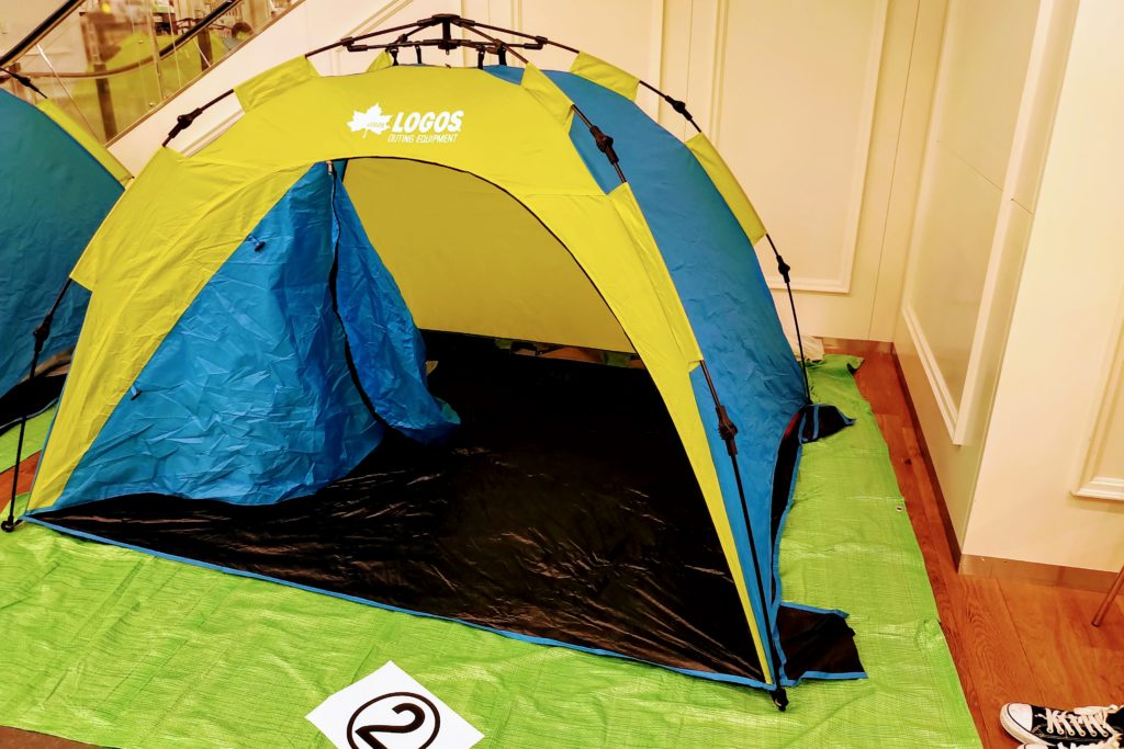 設営済みテント