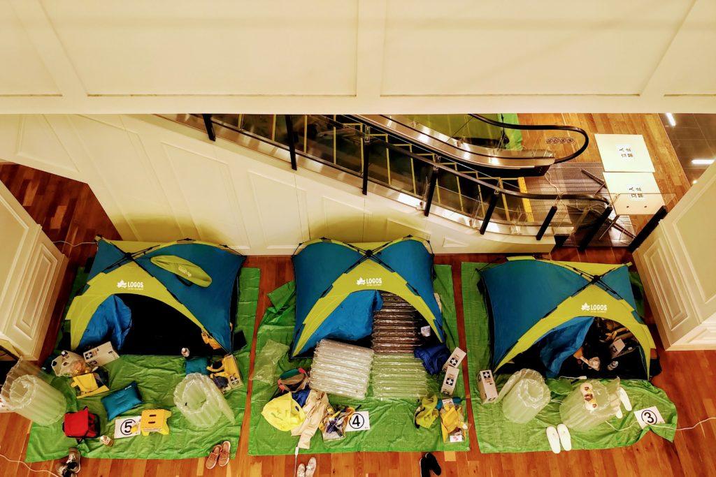 上からみたテント